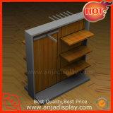 Suporte de monitor de roupa de madeira com suporte da Sapata