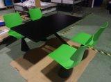 Cadeira e mesa para restaurantes de fast food de 4 lugares