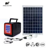 Am neuesten Miete-zu-Eigener Geschäfts-Modus Payg Solarbeleuchtung-Installationssatz mit der 6 Mobile-Aufladeeinheit