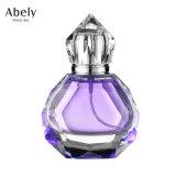 2.5 oz bouteille de parfum de cristal avec Royal Cap acrylique