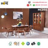 Tabela de jantar de madeira da noz luxuosa para a sala de jantar ajustada (HCD01)