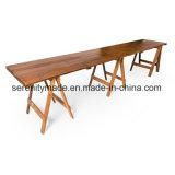 Outdoor Trestle madeira rústica mesa de jantar para o casamento de eventos