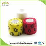 Cuidados para animais de estimação não tecidos coloridos auto-adesivo desportivo bandagem elástica
