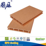 Decking en plastique en bois respectueux de l'environnement du composé WPC
