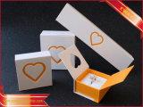 El alto grado de flocado Joyero Ring Box Apple pequeña caja colgante Collar circular