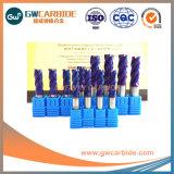 2018 Nuevo HRC68 de carburo de recubrimiento de flauta 6 molinos de extremo plano