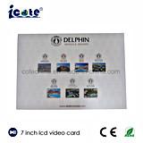 7 polegadas LCD diferentes de memória Folheto Convite Vídeo/Dom/saudação