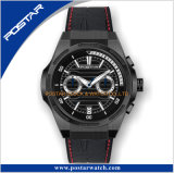 Vigilanza di lusso dell'annata della fascia del solido del cronografo 20mm della vigilanza di Mens di marchio su ordinazione