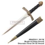 西部の歴史的短剣の騎士短剣のホーム装飾25cm HK6f013