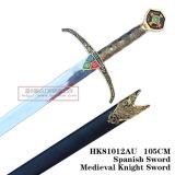 Espadas européias das espadas medievais das espadas da película 105cm HK81012au