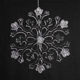 Het hangen van Vorm van de Sneeuwvlok van de Sneeuwvlok van de Decoratie de Plastic voor Kerstboom