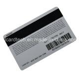 Preto da impressão de Cmyk/cartão magnético do PVC listra do ouro