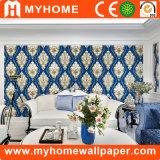 Decoração de casa popular PVC vinil impermeável papel de parede 3D