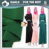 イスラム教の女性の服のためのAbya形式的で黒く多彩なファブリック