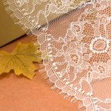 Poliéster Scalloped aparando o laço, laço floral da guarnição, guarnição do laço do ilhó, tela do laço do vintage