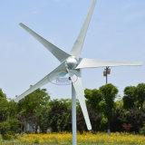 De horizontale Optie van de Macht 600W 12V/24V van de Turbine van de Wind 400watt Maximum die 2m/S met 3 Bladen Blades/5 wordt opgestart