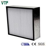 Filtro de ar profundo H13 do plissado HEPA com frame de alumínio para o quarto desinfetado
