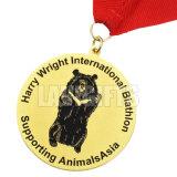 昇進の試供品のリボンが付いているカスタム金属賞2inchの丸型メダル