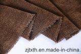 Tissu de sofa de Chenille tissé par plaine par Chocolate Color