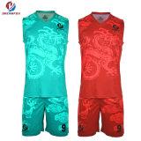 ملابس رياضيّة عادة تصميد رجال كرة سلّة جرسيّ متأخّر كرة سلّة بدلة تصميم