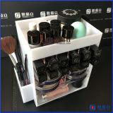 Stand acrylique à trois niveaux d'organisateur d'étalage de vernis à ongles