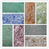 새로운 실내 훈장 무지개 예술적인 코팅 자연적인 면 섬유 액체 벽지