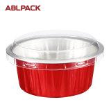 多彩な円形のアルミホイルの健全なカップケーキのベーキング箱