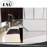 磨かれた白は人工的な水晶石の平板を張りめぐらす