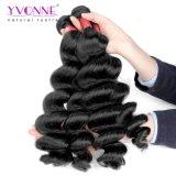 8A等級のブラジルの緩い波100%の人間の毛髪の織り方