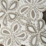 Мозаика картины белого мраморный водоструйного цветка плитки мозаики водоструйная