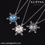 Necklace-00415 Xuping Schneeflocke-Form-Kristalle Swarovski von der einfachen Goldketten-Halskette
