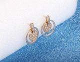 Мелочь Micro проложить CZ обедненной смеси круг шпильки крепления серьги для женщин Золотой круглые серьги украшения женщин День Рождения подарки