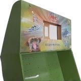 Expositor de suelo de cartón con ganchos de plástico para la Navidad de juguetes, Expositor de suelo de papel