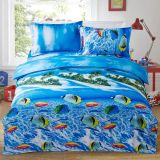 Preiswerte gedruckte Baumwollbettwäsche-gesetzte verschiedene Entwürfe (Fische, Delphin)