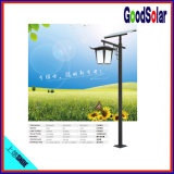 4 der Meter-helles Pole-20W Solargarten-Licht Lithium-Batterie-LED