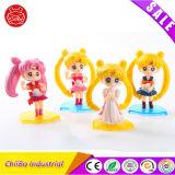 Figura di plastica decorativa promozionale giocattolo di Sailor Moon per i capretti