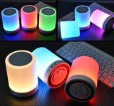 Lampe intelligente campante extérieure de musique de lumière de nuit de contact du haut-parleur DEL de Bluetooth