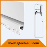 """Architekturpflaster im Aluminium-LED-Profil mit Flansch vertiefte in 5/8 """" Trockenmauer"""
