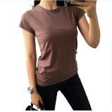 Camiseta modificada para requisitos particulares del bordado de la impresión para las mujeres