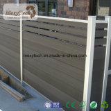 屋外の塀、WPCのアルミニウム塀の手すり、木製の塀のパネル