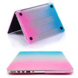 Moderner freier transparenter bunter Regenbogen-Kasten für MacBook Luft