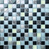 Fabricación de diseño del suelo y de la pared de mosaico del vidrio cristalino
