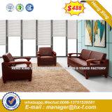 Sala de madeira clássico de couro sofá (HX-S355)