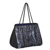 Женщин неопрен красочные через плечо сумки персонализированные брелоки сумки