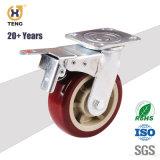 미국 유형 롤러 베어링 고무 철 피마자 바퀴