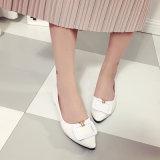 2017의 편평한 단화를 가진 새로운 한국 형식 신발 가죽 단화 끝 크기 얕은 입