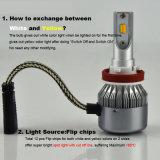 Colore doppio 3000K 6000K H1 H3 H4 H7 H11 9005 9006 lampadine del faro di H13 LED