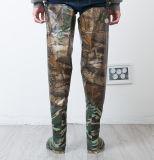 Mensen dik over - Laarzen van de Regen van de Schoenen van het Werk van de Visserij van Wellies van de Schoenen van het Water van pvc van de Knie de Waterdichte Antislip Hard-Wearing