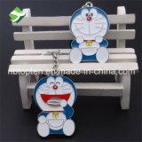Nuovo anello all'ingrosso della catena chiave dell'anello portachiavi di Doraemon Keychain del metallo di disegno