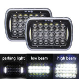 """Jeep Cherokee Xj Yj를 위한 Lantsun LED6472 5D 7X6 5X7 """" 72W LED 헤드라이트 안녕 Lo 광속 달무리 DRL"""
